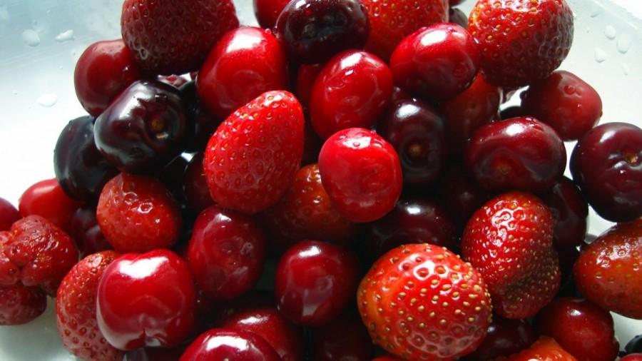 fresas-cerezas